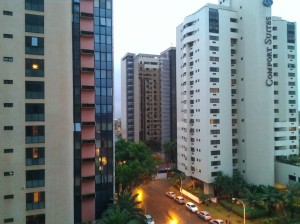 Hotel District North, Brasilia, looking toward a mall (not shown.)